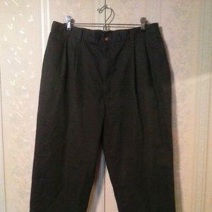 BAY TO BAY MEN'S BLACK CASUAL PANTS - 38X30
